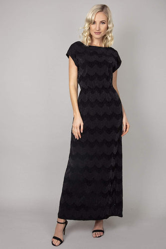 Mela London Dresses Black / 10 / Maxi Elasticated Waist Maxi Dress in Black