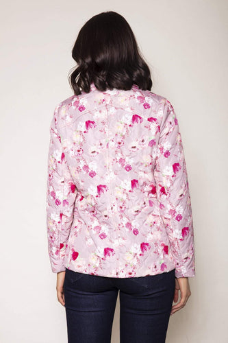 Voulez Vous Jackets Embossed Quilted Printed Jacket in Pink