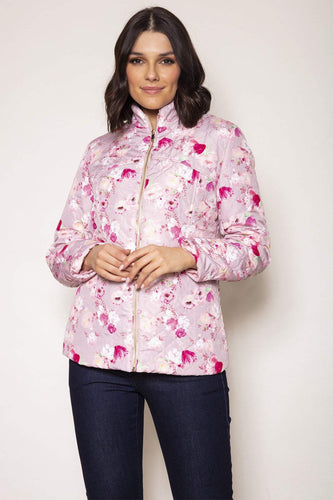 Voulez Vous Jackets Pink / 10 Embossed Quilted Printed Jacket in Pink