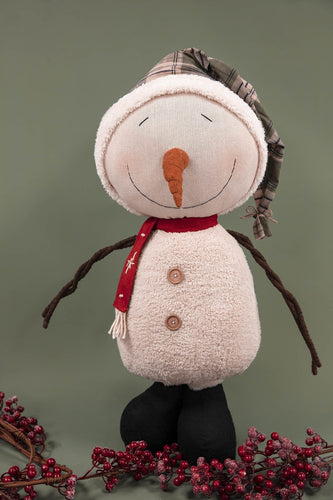 Carraig Donn HOME Christmas Decorations Extra Large Green Hat  Snowman