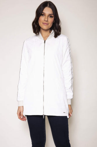 Rino & Pelle Jackets 10 / White Faux Memory Jacket in White