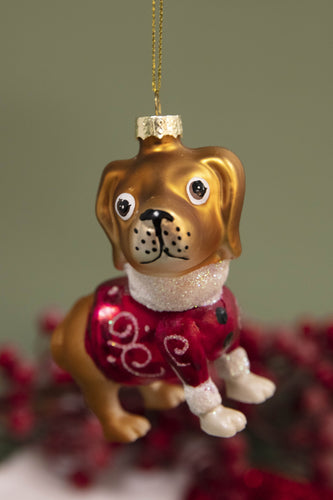 Carraig Donn HOME - Christmas Christmas Tree Decorations Festive Charm Dog