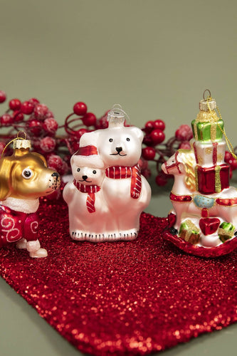 Carraig Donn HOME - Christmas Christmas Tree Decorations Festive Charm Polar Bears