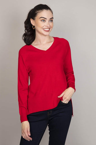 Rowen Avenue Jumpers Red / S Fine Gauge Knit in Red