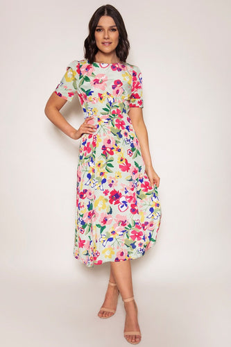 Ada Rowe Dresses Multi / XS / Midi Fiona Dress in Multi Print