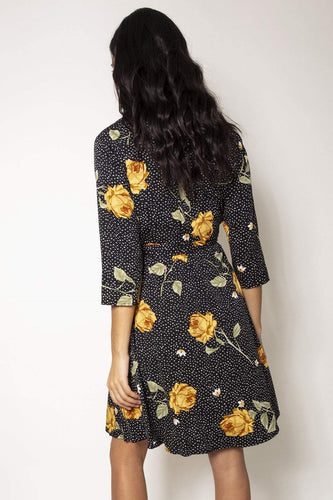 Nova of London Dresses Floral Print Dress in Black