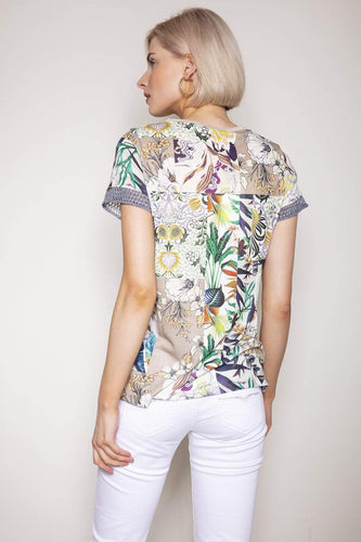 Kalisson Tops Floral Printed Top in Multi