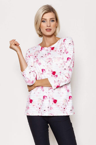 Voulez Vous Jumpers Floral Printed Top in Pink