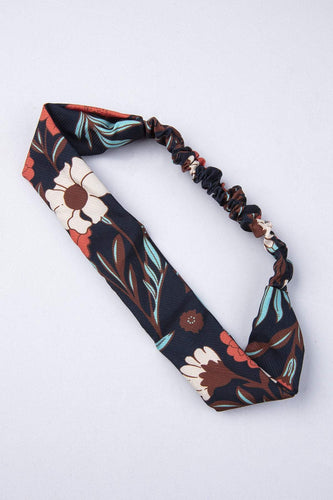 Pulse Accessories Hair Bands Navy Floral Twist Kylie