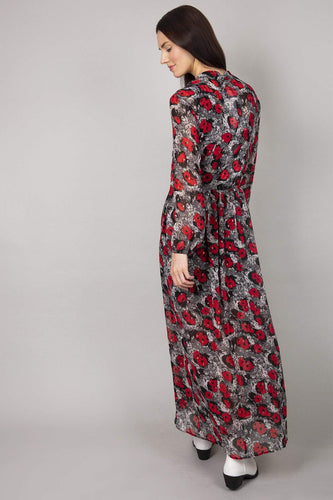 Rowen Avenue Dresses Flower Print Maxi Dress  in Black