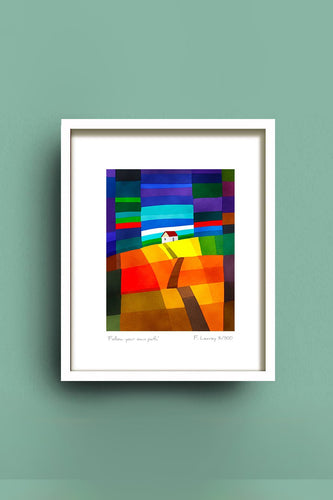 Fab Cow Design Wall Art Follow Your Own Path