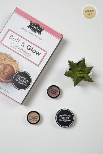 Fuschia Foundations Foundations - Buff & Glow Mineral Kit Cream