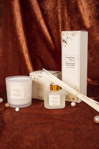 Carraig Donn HOME - Christmas Candles Frankincense and Precocious Myrrh Candle & Diffuser Gift Set