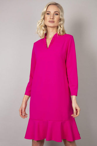 Pala D'oro Dresses Pink / S/M Frill Dress in Pink