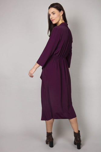 Rowen Avenue Dresses Frill Front Dress in Purple