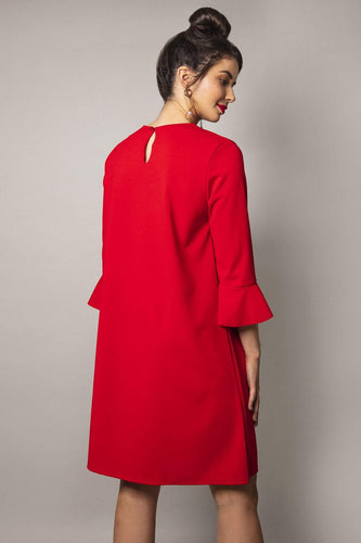 Pala D'oro Dresses Frill Front Dress in Red