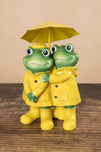 Carraig Donn HOME Ornaments Frog Couple in Rain