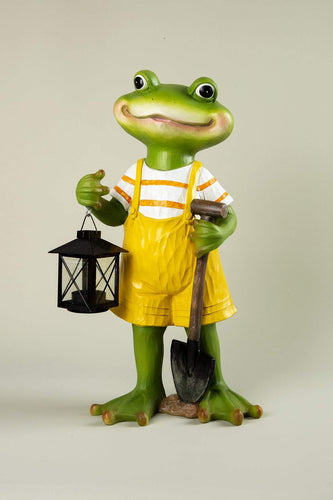 Carraig Donn HOME Ornaments Frog with Lantern