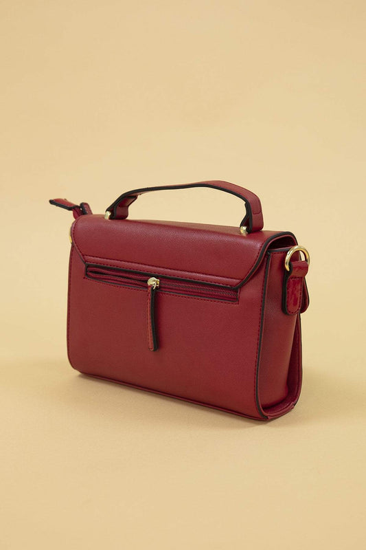 Hamilton Bags Red Front Metal Xbody Bag in Red