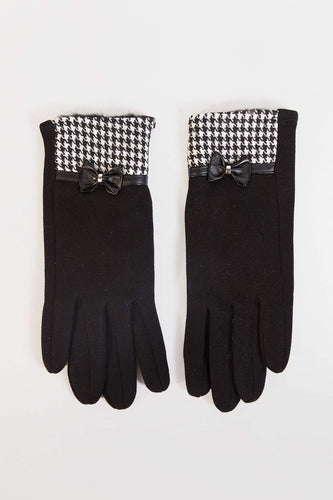 SOUL Accessories Gloves One / Black Geo and Lace  Detail Gloves in Black