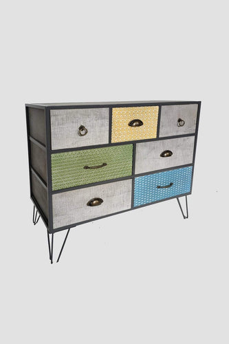 Carraig Donn HOME Drawers Multi Geo Vintage Sideboard
