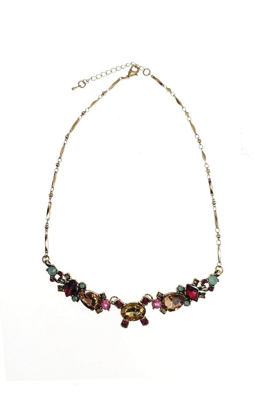 Soul Jewellery Necklaces Gold Geometrical Multicoloured Diamante Necklace - SOUL Special