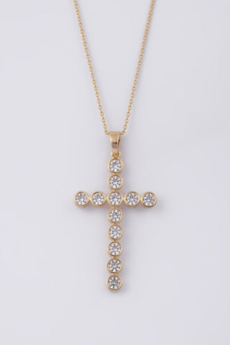 Knight & Day Necklaces Gold Gold Cross