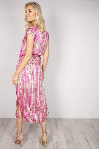 J'aime la Vie Dresses Gold Detail Maxi Dress in Pink