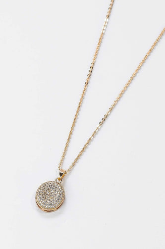 Soul Jewellery Necklaces Gold Diamante Circle Necklace- SOUL Special