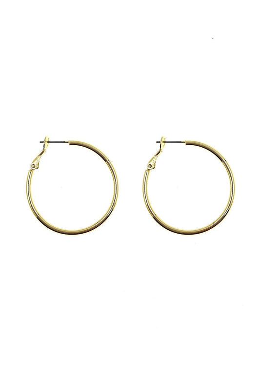 Cherish Earrings Gold Gold Hoop Earrings 3.5 cm
