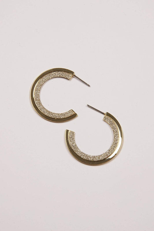Joularie Earrings Gold Gold Hoop Earrings