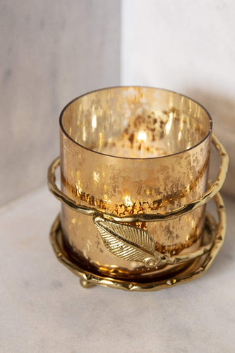 Atticus & Stone Christmas Lighting Gold Leaf Votive