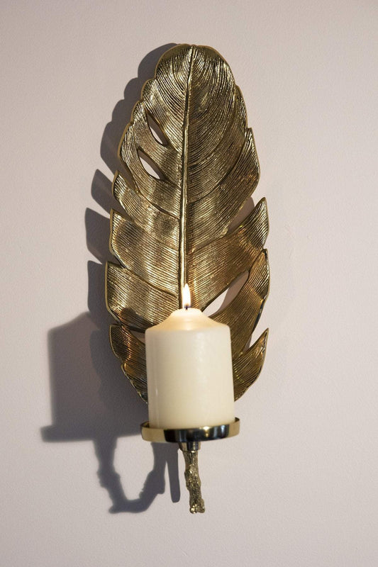 Atticus & Stone Christmas Lighting Gold Leaf Wall Sconce