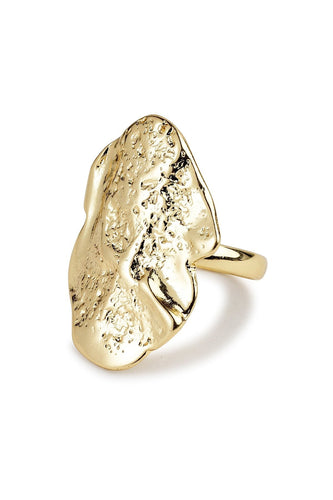 Pilgrim Rings Gold Gold Plated Rustic Ring