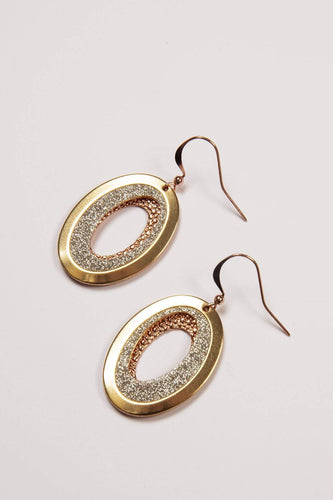 Joularie Earrings Multi Gold Scratched Circle Earrings