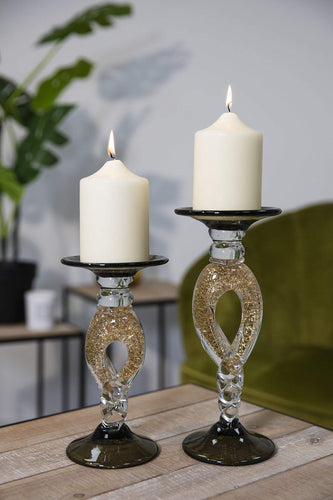 Carraig Donn HOME Candle Holders Golden Twist Candle Stand Large