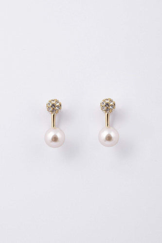 Knight & Day Earrings Gold Grazia Gold & Pearl Earrings