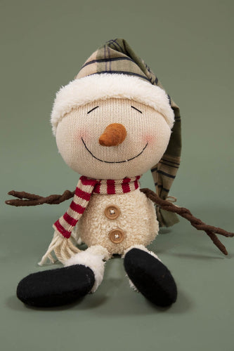 Carraig Donn HOME Christmas Decorations Green Hat Snowman Sitter