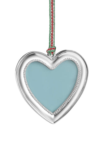 Newbridge Silverware Christmas Tree Decorations Heart Photoframe Decoration