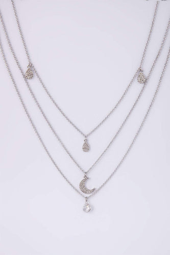 Knight & Day Necklaces Silver Heloise Rhodium Necklace