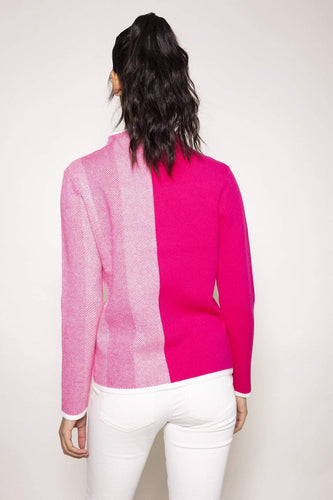 Kelly & Grace Weekend Jumpers Herringbone Knit in Pink