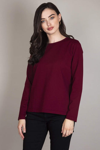 Rowen Avenue Jumpers Red / S High Low Top in Plum Color