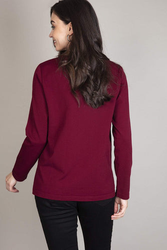 Rowen Avenue Jumpers High Low Top in Plum Color