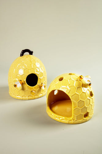 Carraig Donn HOME Ornaments Honeycombe Ceramic Bird House