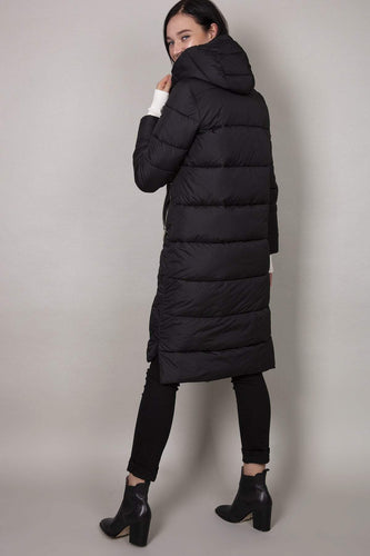 Rowen Avenue Jackets Hood Puffer Jacket in Black