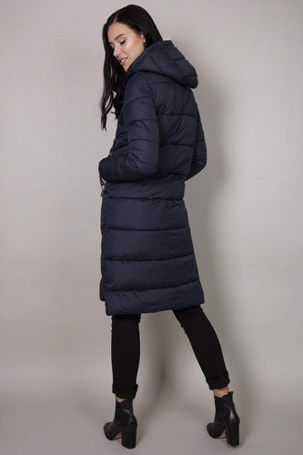 Rowen Avenue Jackets Hood Puffer Jacket in Navy
