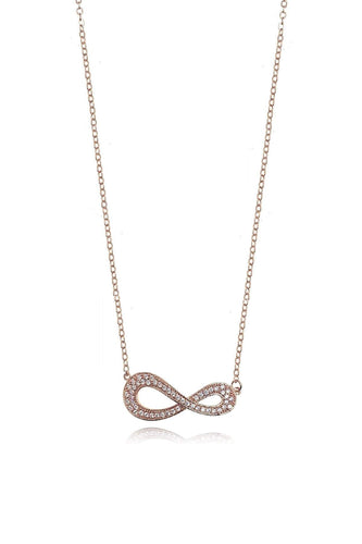 Joularie Necklaces Silver Infinite Symbol Necklace