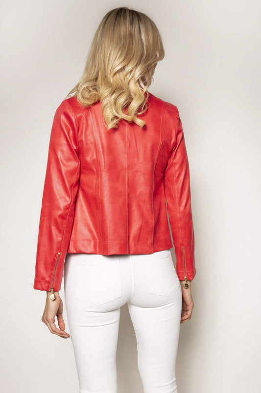 J'aime la Vie Jackets Jacket in Coral