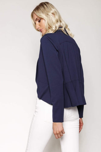 Kelly & Grace Weekend Blazers Jersey Blazer in Navy