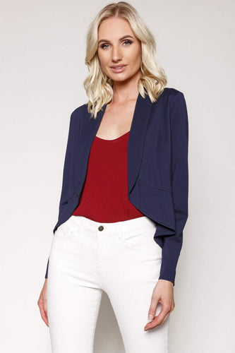 Kelly & Grace Weekend Blazers Navy / S Jersey Blazer in Navy